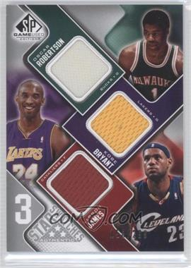 2009-10 SP Game Used 3 Star Swatches #3S-BMJ - Oscar Robertson, Kobe Bryant, Lebron James /299
