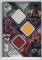 Oscar Robertson, Kobe Bryant, Lebron James /299