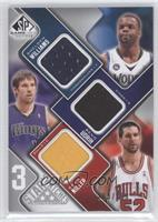 Beno Udrih, Shelden Williams, Brad Miller /299