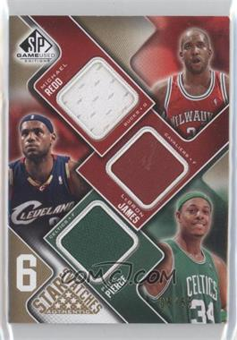 2009-10 SP Game Used 6 Star Swatches Level 1 #RJPMJN - Michael Redd, Lebron James, Paul Pierce, O.J. Mayo, Richard Jefferson, Dirk Nowitzki /65