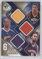 Brandon Rush, Anthony Randolph, Robin Lopez, Marreese Speights, Roy Hibbert /65