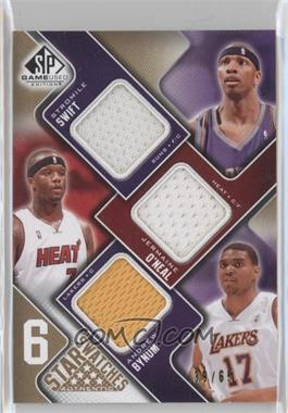 2009-10 SP Game Used 6 Star Swatches Level 1 #SOBHOS - Stromile Swift, Jermaine O'Neal, Andrew Bynum, Dwight Howard, Emeka Okafor /65
