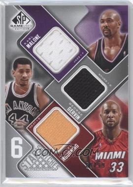2009-10 SP Game Used 6 Star Swatches #6S-6 - Katie Mattera, George Gervin, Alonzo Mourning, Patrick Ewing, Bernard King, Hakeem Olajuwon /99