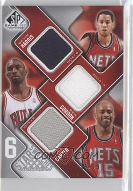 2009-10 SP Game Used 6 Star Swatches #6S-N/A - Devin Harris, Ben Gordon, Vince Carter, Gilbert Arenas, Dirk Nowitzki, Richard Hamilton /99