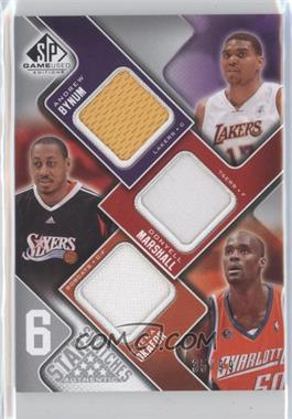 2009-10 SP Game Used 6 Star Swatches #6S-N/A - Jermaine O'Neal, Peja Stojakovic, Tyson Chandler, Andrei Kirilenko, Zach Randolph /99