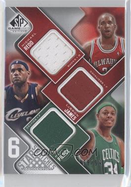 2009-10 SP Game Used 6 Star Swatches #6S-N/A - Michael Redd, Lebron James, Paul Pierce, O.J. Mayo, Richard Jefferson, Dirk Nowitzki /99