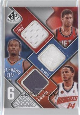 2009-10 SP Game Used 6 Star Swatches #ALLBWS - Brook Lopez, Kyle Weaver, D.J. Augustin, Jerryd Bayless, Marreese Speights, Courtney Lee /99