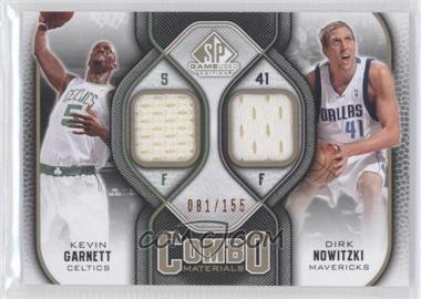 2009-10 SP Game Used Combo Materials Level 1 #CM-GN - Kevin Garnett, Dirk Nowitzki /155