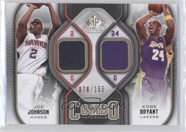 2009-10 SP Game Used Combo Materials Level 1 #CM-JK - Joe Johnson, Kobe Bryant /155