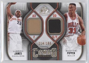 2009-10 SP Game Used Combo Materials Level 1 #CM-LS - Lebron James, Scottie Pippen /155