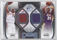 Lebron James, Kobe Bryant /50