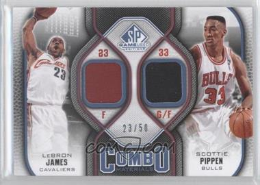2009-10 SP Game Used Combo Materials Level 2 #CM-LS - Lebron James, Scottie Pippen /50