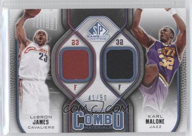 2009-10 SP Game Used Combo Materials Level 2 #CM-MJ - Lebron James, Karl Malone /50