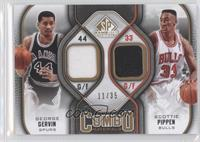 George Gervin, Scottie Pippen /35