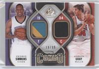 Cedric Simmons, Aaron Gray /99