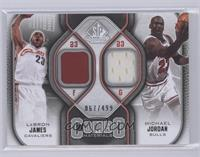 Lebron James, Michael Jordan /499 [Near Mint‑Mint+]