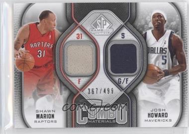 2009-10 SP Game Used Combo Materials #CM-MH - Shawn Marion, Josh Howard /499