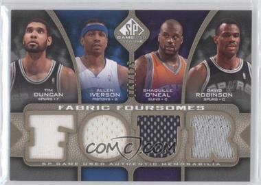 2009-10 SP Game Used Fabric Foursomes Level 1 #F4-DIOR - Tim Duncan, Allen Iverson, Shaquille O'Neal, Danielle Robinson, David Robinson /125