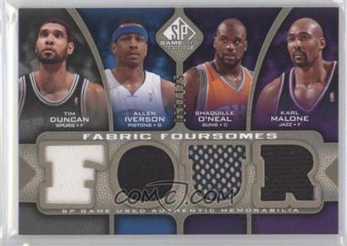 2009-10 SP Game Used Fabric Foursomes Level 1 #F4-DM10 - Tim Duncan, Allen Iverson, Shaquille O'Neal, Katie Mattera /125