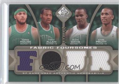 2009-10 SP Game Used Fabric Foursomes Level 1 #F4-HAPD - Eddie House, Glen Davis, Gabe Pruitt, Tony Allen /125