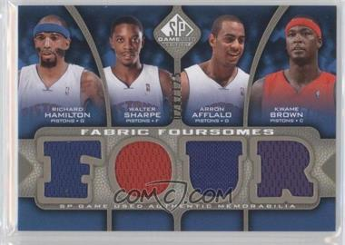 2009-10 SP Game Used Fabric Foursomes Level 1 #F4-HBAS - Richard Hamilton, Walter Sharpe, Arron Afflalo, Kwame Brown /125