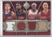 Delonte West, Lebron James, Ben Wallace, Zydrunas Ilgauskas /125