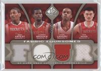 Metta World Peace, Aaron Brooks, Carl Landry, Yao Ming /50