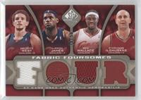 Delonte West, Lebron James, Ben Wallace, Zydrunas Ilgauskas /50