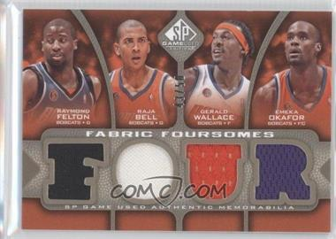 2009-10 SP Game Used Fabric Foursomes Level 2 #F4-WBOF - Raymond Felton, Raja Bell, Gerald Wallace, Emeka Okafor /50