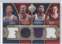 Nick Young, Sean Williams, Jason Smith, Jamal Crawford /50