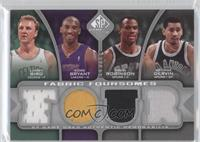 Larry Bird, Kobe Bryant, George Gervin, David Robinson /199