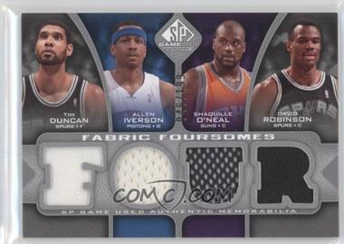 2009-10 SP Game Used Fabric Foursomes #F4-DIOR - Tim Duncan, Allen Iverson, Shaquille O'Neal, David Robinson /199
