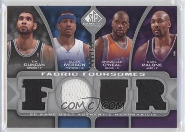2009-10 SP Game Used Fabric Foursomes #F4-DMIO - Tim Duncan, Allen Iverson, Shaquille O'Neal, Karl Malone /199