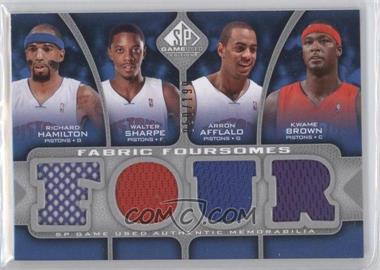 2009-10 SP Game Used Fabric Foursomes #F4-HBAS - Richard Hamilton, Walter Sharpe, Arron Afflalo, Kwame Brown /199