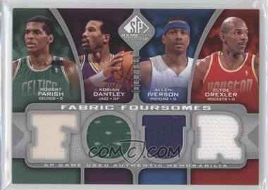2009-10 SP Game Used Fabric Foursomes #F4-IDPD - Adrian Dantley, Allen Iverson, Clyde Drexler /199