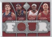 Delonte West, Lebron James, Ben Wallace, Zydrunas Ilgauskas /199