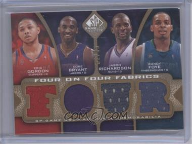 2009-10 SP Game Used Four on Four Fabrics Level 1 #FF-GBRFRBMM - Eric Gordon, Kobe Bryant, Jason Richardson, Randy Foye, Brandon Roy, Ronnie Brewer, O.J. Mayo, Tracy McGrady /65