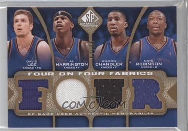2009-10 SP Game Used Four on Four Fabrics Level 1 #FF-LHCRCBBM - David Lee, Al Harrington, Wilson Chandler, Nate Robinson, Jose Calderon, Chris Bosh, Andrea Bargnani, Shawn Marion /65