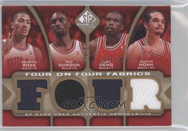 2009-10 SP Game Used Four on Four Fabrics Level 1 #FF-RGDNWJWI - Derrick Rose, Ben Gordon, Luol Deng, Joakim Noah, Delonte West, Lebron James, Ben Wallace, Zydrunas Ilgauskas /65