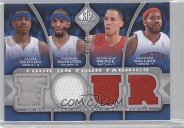2009-10 SP Game Used Four on Four Fabrics #FF-N/A - Allen Iverson, Richard Hamilton, Tayshaun Prince, Rasheed Wallace, Michael Redd, Richard Jefferson, Joe Alexander, Andrew Bogut /99