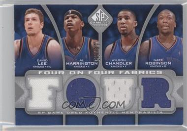 2009-10 SP Game Used Four on Four Fabrics #FF-TORNYK - David Lee, Al Harrington, Wilson Chandler, Nate Robinson, Jose Calderon, Chris Bosh, Andrea Bargnani, Shawn Marion /99