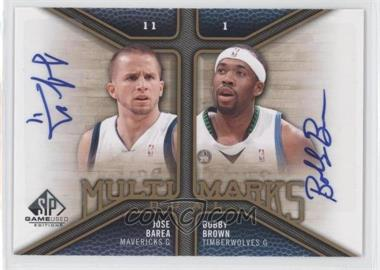 2009-10 SP Game Used Multi Marks Dual Autographs [Autographed] #MD-BJ - J.J. Barea, Bobby Brown