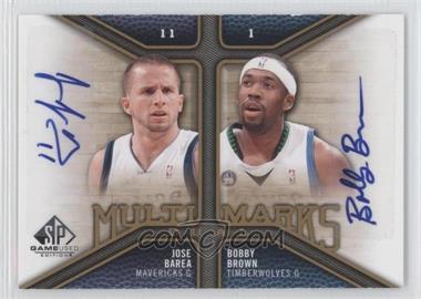 2009-10 SP Game Used Multi Marks Dual Autographs [Autographed] #MD-BJ - J.J. Barea, Bobby Brown