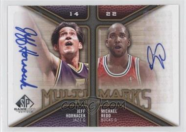 2009-10 SP Game Used Multi Marks Dual Autographs [Autographed] #MD-HR - Jeff Hornacek, Michael Redd