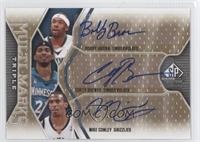 Bobby Brown, Corey Brewer, Mike Conley /100