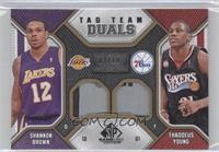 Shannon Brown, Thaddeus Young /10