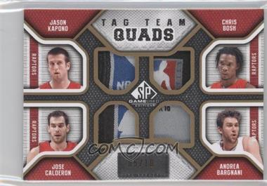 2009-10 SP Game Used Tag Team Quads #TQ-TORO - Jason Kapono, Chris Bosh, Jose Calderon, Andrea Bargnani /10