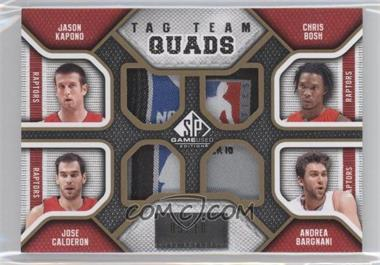 2009-10 SP Game Used Tag Team Quads #TQ-TORO - Jason Kapono, Chris Bosh, Jose Calderon, Andrea Bargnani /10