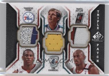 2009-10 SP Game Used Triple Patch #TP-COY - Thaddeus Young, Tom Chambers, Travis Outlaw /60