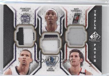 2009-10 SP Game Used Triple Patch #TP-HGF - Francisco Garcia, Josh Howard, Rudy Fernandez /60